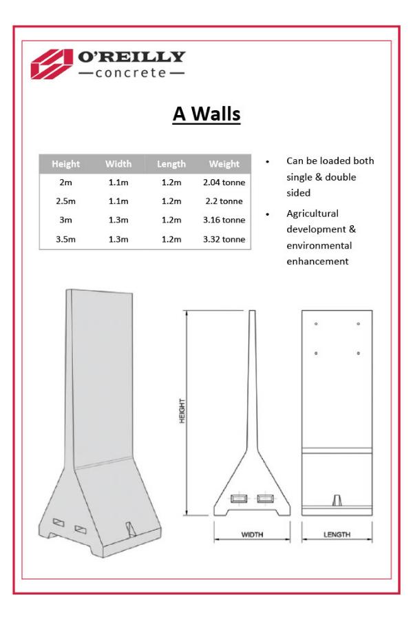 A-Walls Technical Sheet