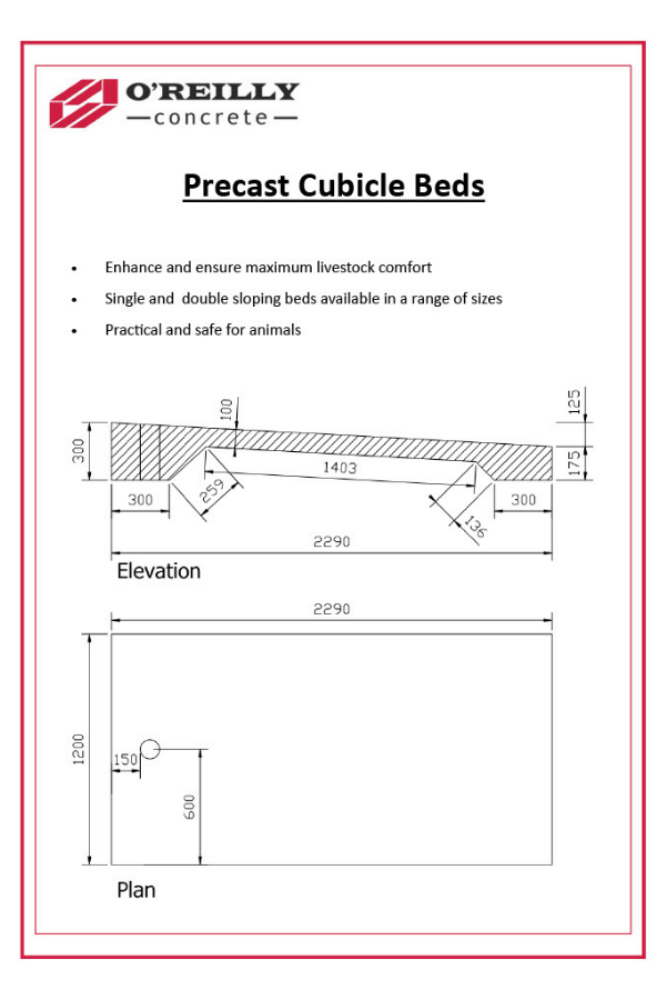 Cubicle Beds Technical Sheet