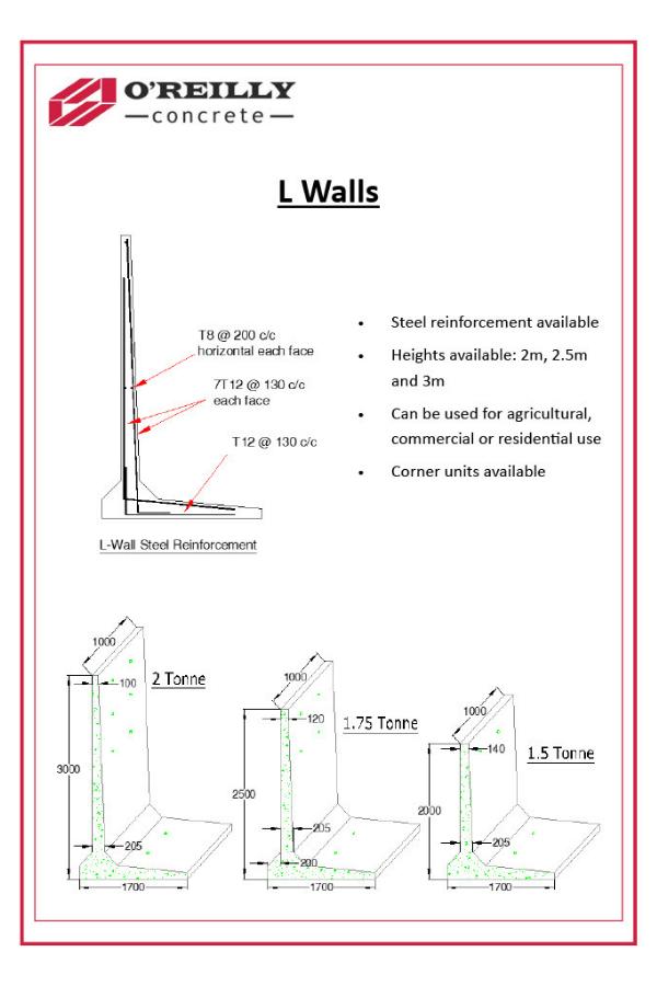 L-Walls Technical Sheet