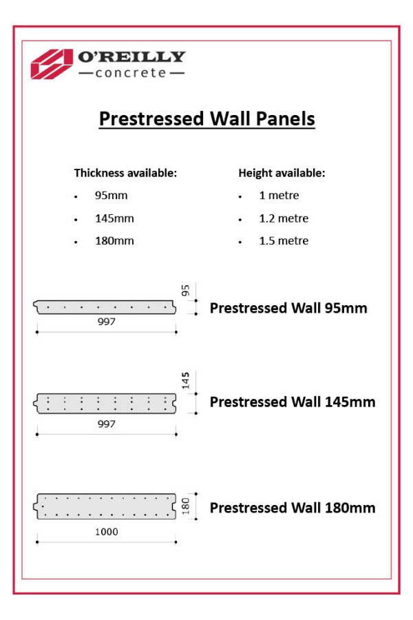 Prestressed Wall Panels Technical Sheet