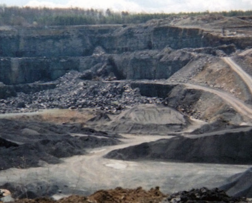 Drone image of O'Reilly Concrete Quarry