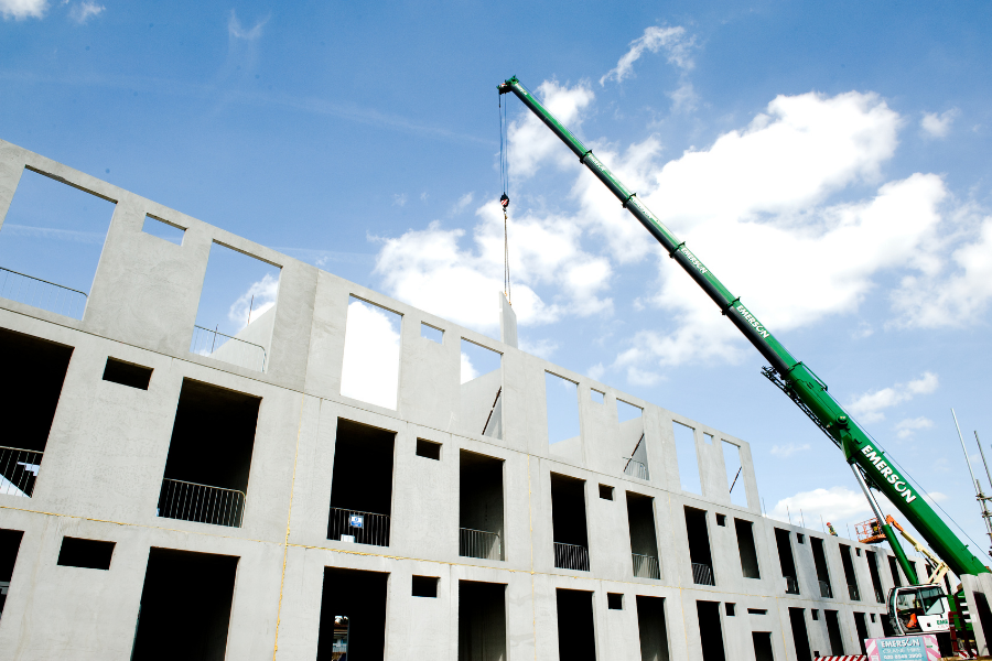 Hacton Primary School London Being Built with O'Reilly Concrete Walls